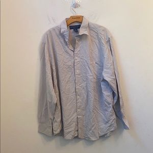 Andrew Fezza large grey button down shirt